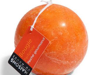 Maisons du monde - bougie boule orange - Bougie Ronde