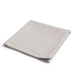 Maisons du monde - serviette unie gris clair - Serviette De Table