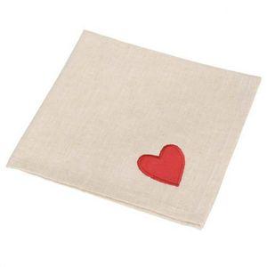Maisons du monde - serviette amore rouge - Serviette De Table