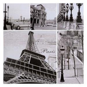 Maisons du monde - ensemble 5 toiles photos paris petit modèle - Photographie