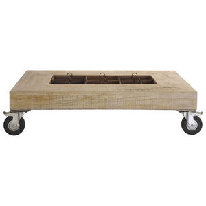 Maisons du monde - table basse petit jardinier - Table Basse À Roulettes