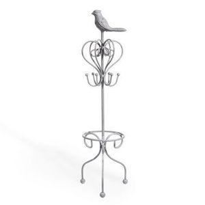 Maisons du monde - porte bijoux oiseau gris - Coffret À Bijoux