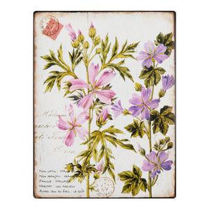 Maisons du monde - plaque m�tal florale - D�coration Murale