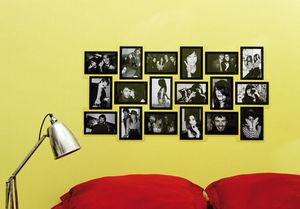 slimpy puzzle carr miroir cadre multi vues argente. Black Bedroom Furniture Sets. Home Design Ideas