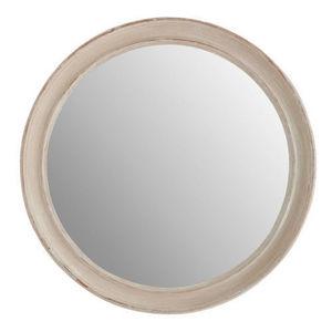 Maisons du monde - miroir elianne rond beige - Miroir