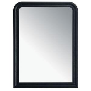 Maisons du monde - miroir louis noir 90x120 - Miroir