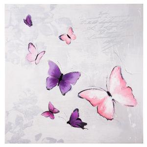 Maisons du monde - toile papillons poésie - Tableau Décoratif