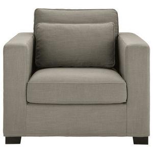 Maisons du monde - fauteuil tissu monet gris clair milano - Fauteuil