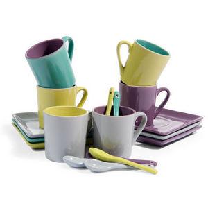 Maisons du monde - coffret 6 tasses et soucoupes café sorbet - Tasse À Café