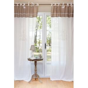 Maisons du monde - rideau magnolia - Rideaux À Lacettes