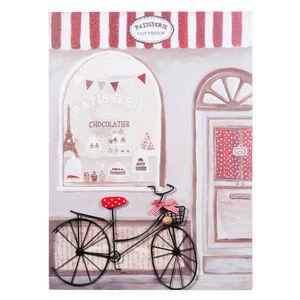 Maisons du monde - tableau vélo pâtisserie - Tableau Décoratif