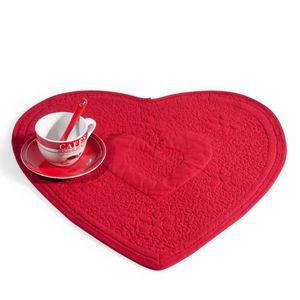 Maisons du monde - set de table matelassé coeur rouge - Set De Table