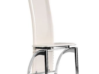 CLEAR SEAT - chaises modernes iris blanc lot de 4 - Chaise