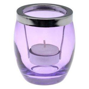 La Chaise Longue - photophore summer en verre violet 8x9.5cm - Photophore