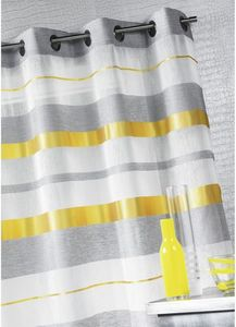 HOMEMAISON.COM - voilage en �tamine avec rayures bayad�res horizont - Voilage