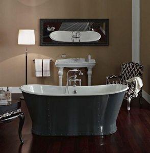 BLEU PROVENCE - luxury grise - Baignoire À Poser
