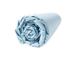 BLANC CERISE - drap housse - percale (80 fils/cm�) - uni - Drap Housse