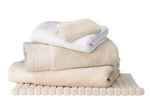 BLANC CERISE - drap de bain ficelle - coton peign� 600 g/m� - uni - Serviette De Toilette
