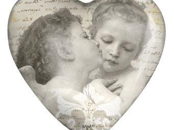 Mathilde M - sulfure coeur anges amoureux - Presse Papier
