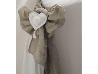 Mathilde M - 2 embrasses lin cur blanc 40 x 260 cm - Embrasse