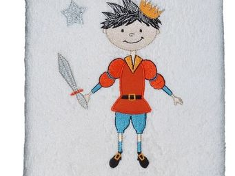 SIRETEX - SENSEI - drap de douche 70x140 brodé 500 gr/m² prince eliot - Serviette De Toilette Enfant