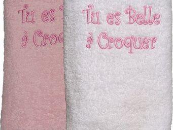 SIRETEX - SENSEI - serviette 50x90cm brodée belle a croquer 420gr/m²  - Serviette De Toilette Enfant