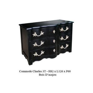 DECO PRIVE - commode en bois noir modele charles - Meuble � Tiroirs