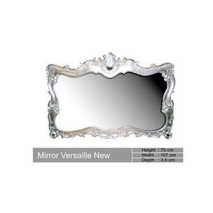 DECO PRIVE - miroir baroque en bois argente versailles - Miroir