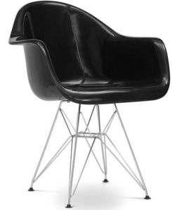 Charles & Ray Eames - chaise eiffel ar noire charles eames - lot de 4 - Chaise Réception