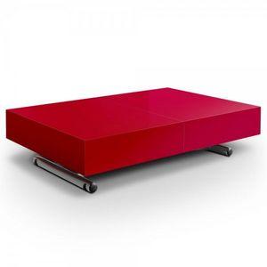 WHITE LABEL - table basse relevable et extensible aurora - Table Basse Rectangulaire