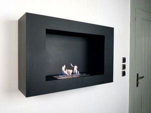 NEOFLAM - chemine bio-thanol modern screen black - Chemin�e Sans Conduit D'�vacuation