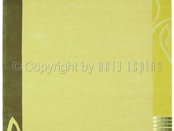 Arte Espina - tapis de petit tapis easy going 3 vert 70x140 en a - Tapis Contemporain