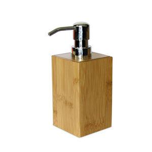 WHITE LABEL - distributeur de savon en bambou naturel - Distributeur De Savon