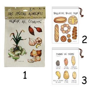 WHITE LABEL - sac de conservation spécial oignons ail échalotte - Sac Isotherme