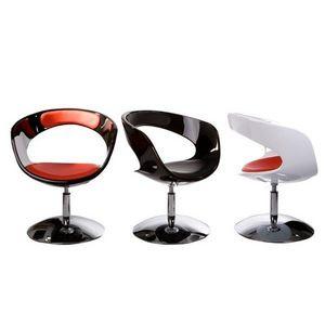 KOKOON DESIGN - fauteuil de salon design abs et similicuir boston - Fauteuil Rotatif