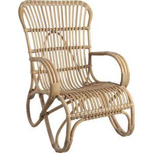 Aubry-Gaspard - fauteuil en manau et moelle de rotin naturelle dét - Fauteuil De Jardin