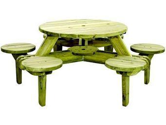 Alexander Rose - ensemble pique-nique 6 places en pin fsc - Table Pique Nique