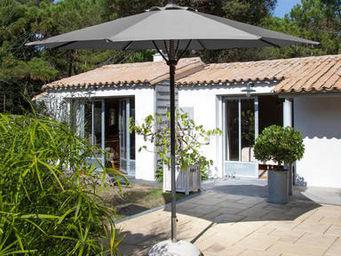 PROLOISIRS - parasol automatique spring 3m toile et mât gris - Parasol