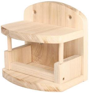 ZOLUX - mangeoire horizontale onlywood en bois 19x12x17,6c - Mangeoire À Oiseaux