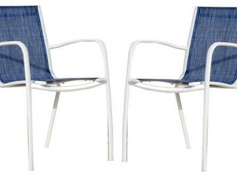 PROLOISIRS - fauteuil linea en aluminium blanc sand et textilèn - Chaise De Jardin