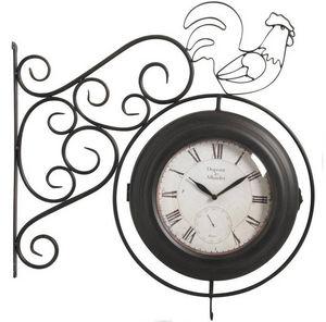 Aubry-Gaspard - horloge murale en métal et verre coq double face 5 - Horloge Murale
