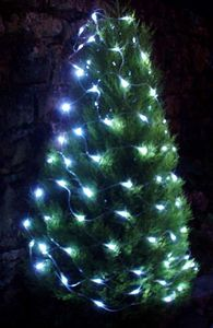 FEERIE SOLAIRE - guirlande solaire en filet 96 leds blanches 150x90 - Guirlande Lumineuse
