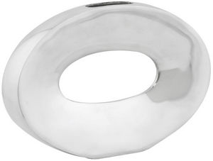 KOKOON DESIGN - vase ovale horizontal en aluminium poli 32x5x21cm - Soliflore
