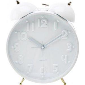 Present Time - réveil twin bell nude - couleur - blanc - Réveil Matin