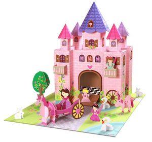 EXKLUSIVES FUR KIDS - château de princesse trinny en carton recyclé 73x5 - Château Fort