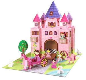 KROOOM-EXKLUSIVES FUR KIDS - ch�teau de princesse trinny en carton recycl� 73x5 - Ch�teau Fort