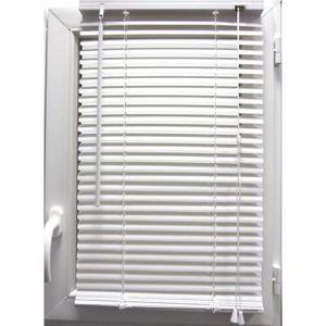 Luance - store v�nitien pvc blanc 50x130 cm - Store Enrouleur