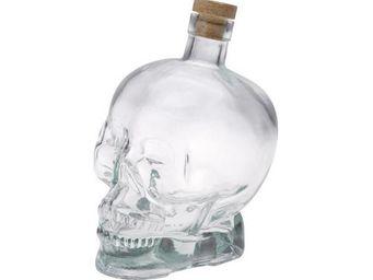 La Chaise Longue - bouteille tête de mort transparent - Bouteille