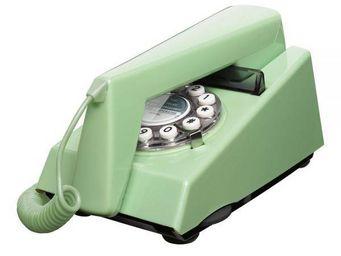 WHITE LABEL - téléphone trim vert suédois - Téléphone Décoratif