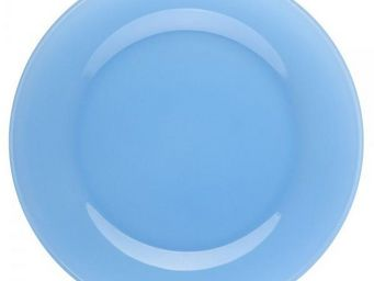La Chaise Longue - assiette � dessert en verre bleue - Assiette Plate